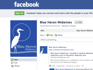 Blue Heron Facebook screenshot